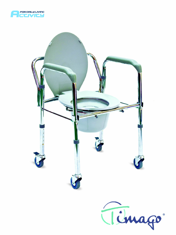 Folding mode chair with wheels